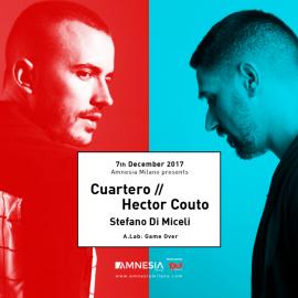 07/12/2017 – CUARTERO/HECTOR COUTO/STEFANO DI MICELI – AMNESIA – MILANO